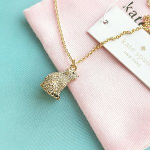 Gold Cold Comforts Polar Bear Crystals Necklace